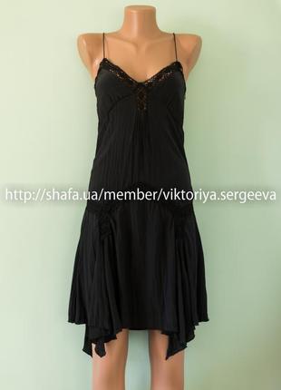 Шикарное вечернее платье в бельевом стиле с кружевом 100% шелк