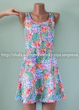 Большой выбор платьев - стильное летнее платье в принт