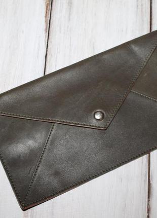 Кожаный кошелек конверт 100% натуральная кожа