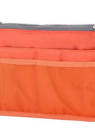 Органайзер для сумки. оранжевый