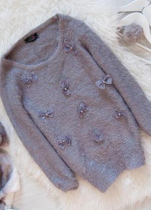 Акція 1+1=3📛   свитер-травка с бантиками от stylamoi