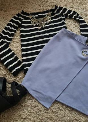 🔥🔥🔥стильная асиметричная юбка красивого сиреневого оттенка нов...