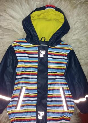Демисезонная детская  куртка на флисе немецкого бренда lupilu