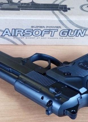 Страйкбольный металлический пистолет BERETTA 92FS (CYMA ZM 18)...