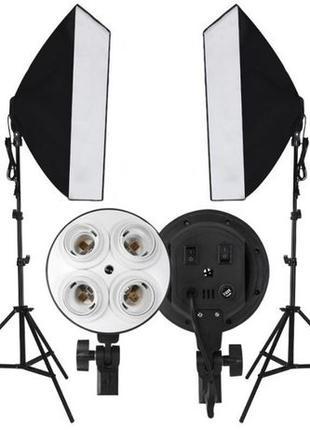 Постоянный студийный свет софтбокс 2 шт. (50х70) + 2 штатива +...