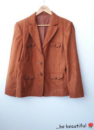 Рыжий пиджак замшевый пиджак батал большой размер