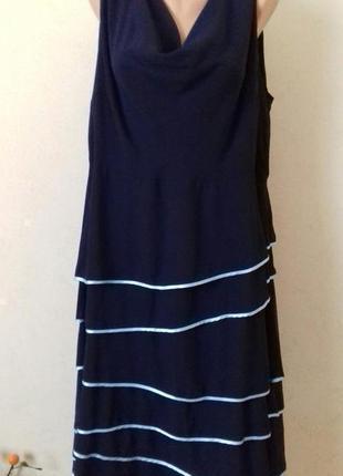 Красивое шифоновое платье большого размера