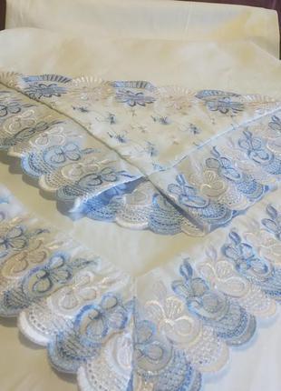 Комплект постельного белья тиротекс с прошвой. 100% бязь.