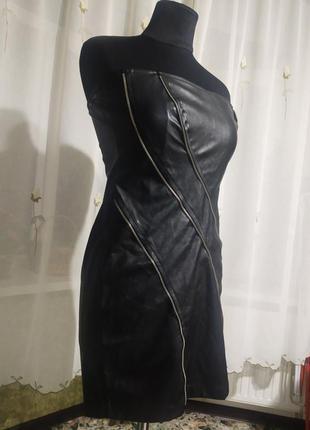 Бандажное платье-бюстье из эко-кожи kiki riki