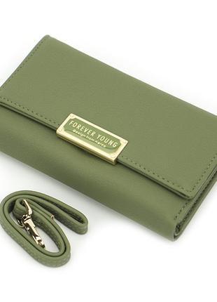 Женский Кошелек Портмоне Weichen (7370-38) Зеленый