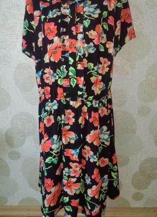 Изумительное платье миди в цветочный принт большого размера  р...