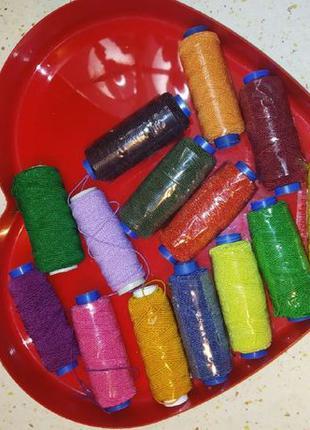 Нитка-резинка синтетическая, эластичная, 14 цветов