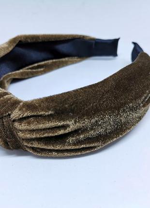 Женский бархатный обруч - чалма для волос  / ободок для головы...