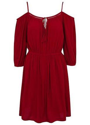 George шикарный вискозный сарафан платье с открытыми плечами, ...