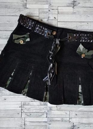 Юбка женская jinyihong черная вельвет камуфляж