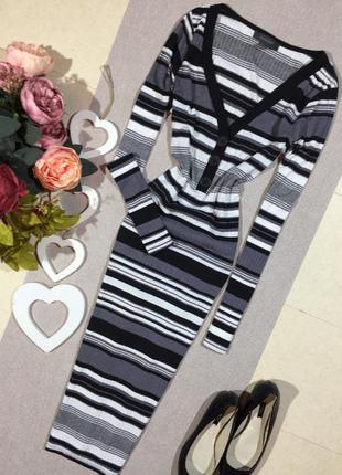 Трендовое платье в полоску по фигуре
