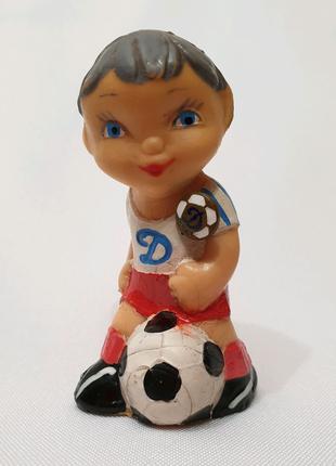 Резиновая Игрушка кукла Ссср каучук литая резина мальчик вратарь