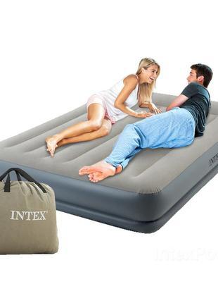 Надувная кровать Двухспальная Intex 64118, 152 х 203 х 30 с насос