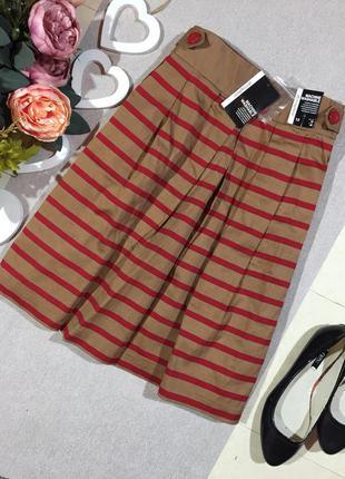 Новая!!! коттоновая юбка в полоску.
