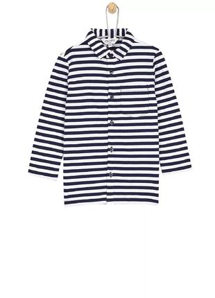 Трикотажная полосатая рубашка на мальчика dorothy perkins