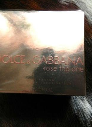 Женские Духи Dolce & Gabbana Rose The One EDP 75 ml Оригинал Н...