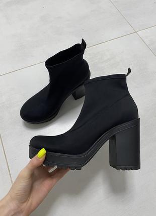 Ботинки чулки, носки, на тракторной подошве divided by h&m