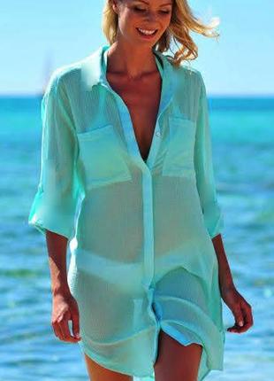 Пляжная туника рубашка кардиган на пуговицах