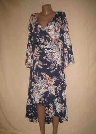 Вискозное платье с запахом vero moda р-рl