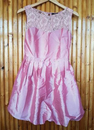 Шикарное нарядное вечернее выпускное платье vivat с кружевом и...