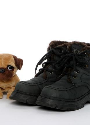 Кожаные зимние ботинки на мальчика р. 34, 20 см. чоботи