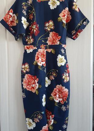 Элегантное вечернее платье миди от asos с разрезом