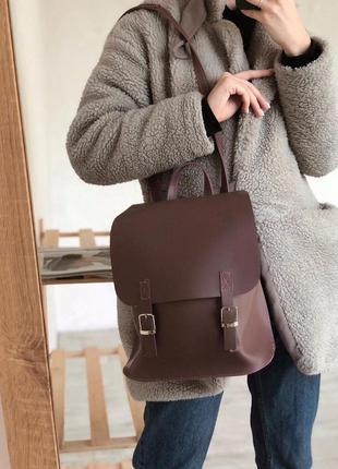 Рюкзак трансформер темная пудра со шлейками вместительный сумк...