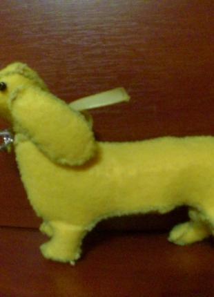 Собачка такса из фетра сделана своими руками, новая