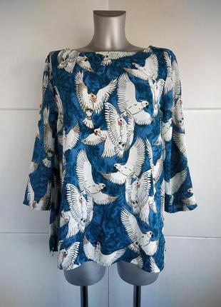 Стильная блуза white stuff с принтом птиц
