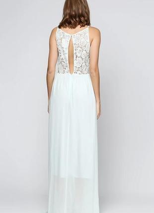Элегантное длинное вечернее, выпускное платье h&m с кружевной ...