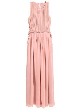 Элегантное длинное вечернее, выпускное шифоновое платье макси ...