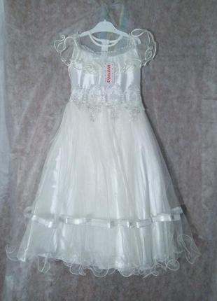 Нарядное платье на девочку. новогоднее платье.турция