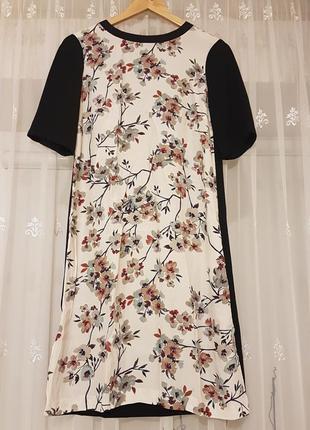 Красивое платье zara в цветочный принт