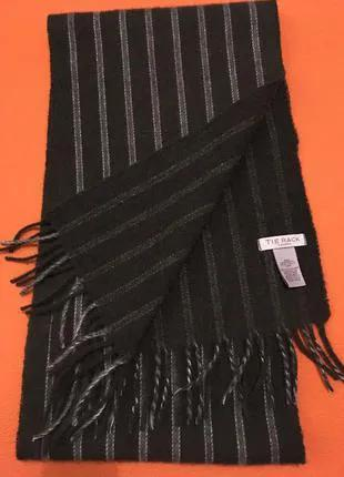 Шарф TIE RACK LONDON 100% lambswool laine made in England новый