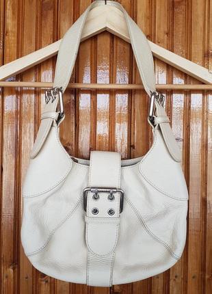 Кожаная сумка furla с пряжками.