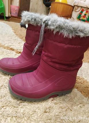 Зимние резиновые сапоги на стопу до 18 см