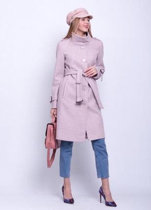 Скидка! стильное женское демисезонное пальто воротник стойка п...