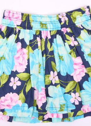 Котоновая необычная юбка холлистер