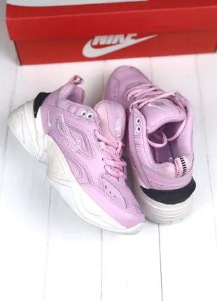 Женские Кроссовки Nike M2K Tekno pink&white ⬆️