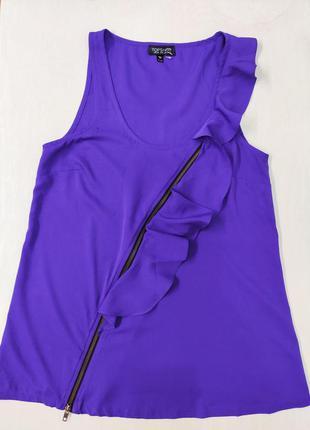 Topshop нарядная майка, блузка с рюшами. состояние новой!