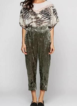 Крутые велюровые брюки zara с высокой посадкой.