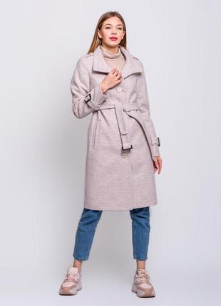 Скидка! стильное женское демисезонное пальто воротник стойка б...