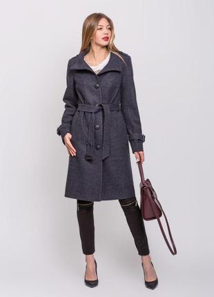 Скидка! стильное женское демисезонное пальто воротник стойка с...