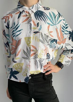 Крутая летняя рубашка, трендова сорочка, оверсайз, в красивий ...