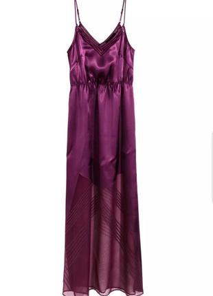 Красивое летнее платье, сарафан сливового цвета от h&m с полуп...